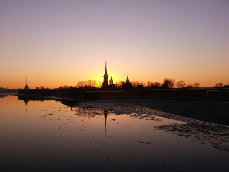 закат Санкт-Петербург